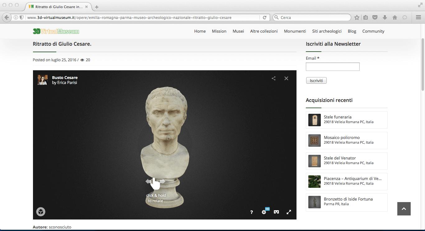3d virtual museum progetto