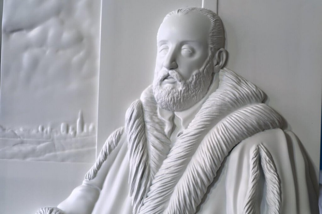 Stampa 3D di un dipinto del Tintoretto